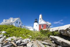 The Pemaquid Point lighthouse Royalty Free Stock Images
