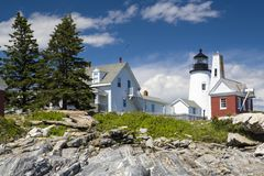 The Pemaquid Point lighthouse Stock Photo