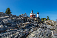 Pemaquid Point Lighthouse royalty free stock photo