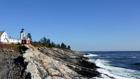 Pemaquid Point Lighthouse Maine stock footage