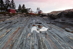 Pemaquid Point lighthouse, Maine, USA Royalty Free Stock Photos