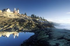Pemaquid Point Lighthouse, ME Stock Photography
