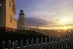 Pemaquid Point Lighthouse, ME Stock Image