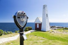 The Pemaquid Point lighthouse Royalty Free Stock Photos