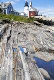 The Pemaquid Point lighthouse stock photos