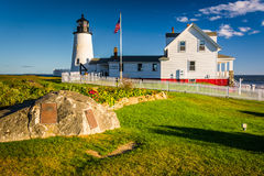 Pemaquid Point Lighthouse, in Pemaquid Point, Maine. Stock Photos