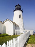 Pemaquid Point Lighthouse and Tide Pool Royalty Free Stock Image