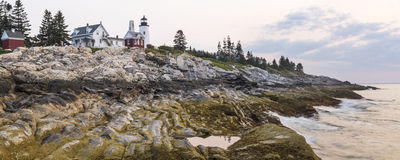 Pemaquid Point Panorama Royalty Free Stock Photo