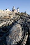 Pemaquid punktfyr Maine Royaltyfria Bilder