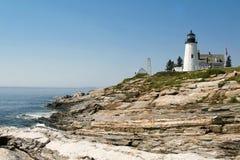 Pemaquidvuurtoren, Maine Stock Afbeeldingen