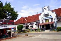 Pematangsiantar railway station. Pematang Siantar is a city on the Indonesian island of Sumatra with about 250.000 inhabitants. Trains running between Sumatra`s stock photography