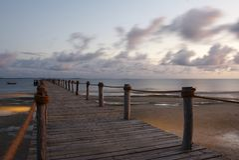 Pemba Island Pier royalty free stock photography
