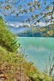 Pemberton Dolinna rzeka i Duffy Jeziorny Drogowy pobliski Whistler Kanada jako jesień, BC przyjeżdżamy i krajobraz zmienia colour Zdjęcie Royalty Free
