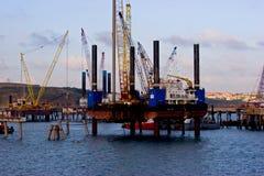 Pembroke-Ölplattform stockbilder