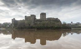 Pembroke Castle, Pembrokeshire, Wales stock photo