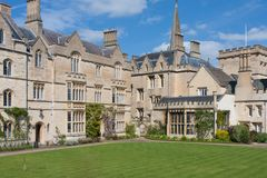 Pembroke College, Oxford imagem de stock royalty free
