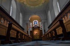 Pembroke college, university of Cambridge, England. Interior of the chapel (designed by Christoper Wren soon after the english civil war) at Pembroke college Royalty Free Stock Photography