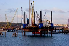 Pembroke Oil Rig Stock Images