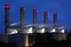 Pembroke Power Station at Dusk Royalty Free Stock Photo