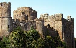 Pembroke-Schloss in Wales Stockfotos