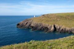 Pembrokeshire海岸,夏天风景 库存图片