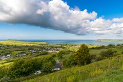 Viewpoint over Dinas Cross, Pembrokeshire, Dyfed, Wales, UK Royalty Free Stock Images