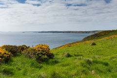 Pembrokeshire coast Newgale and Rickets Head St Bride's Bay Wales Stock Photo