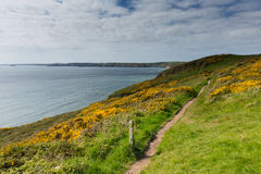 Pembrokeshire coast Newgale and Rickets Head St Bride's Bay Wales Royalty Free Stock Photography