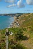 Pembrokeshire coast path near Newgale Stock Photo
