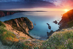 Pembrokeshire Coast Sunset Stock Images