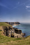 Pembrokeshire coastline and beach Royalty Free Stock Images