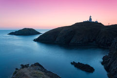Pembrokeshire kust, färgrikt landskap Royaltyfri Foto