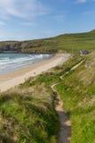 Pembrokeshire wybrzeża ścieżki Whitesands zatoka Zdjęcia Stock