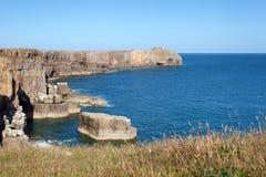Pembrokeshire wybrzeże, lato krajobraz Obrazy Royalty Free
