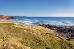 Pembrokeshire wybrzeże, naturalny krajobraz Zdjęcia Stock