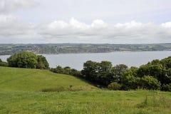 Pembrokeshirekustlijn dichtbij Saundersfoot Royalty-vrije Stock Afbeeldingen