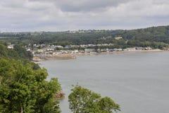 Pembrokeshirekustlijn en Saundersfoot Royalty-vrije Stock Afbeeldingen