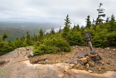 Pemetic Mountain in Acadia National Park Royalty Free Stock Images