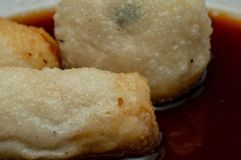 Pempek palembang is traditional food from South Sumatra,Indonesia. stock images
