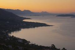 Península de Croatia - de Peljesac fotos de stock