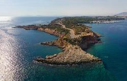 Península de Kavouri, Atenas - Grécia imagens de stock