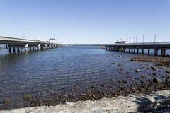 Península de Redcliffe - cruzando a baía da amora Imagem de Stock