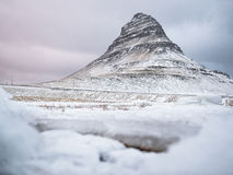 Península de Snaefellsnes en invierno Imagen de archivo