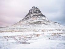 Península de Snaefellsnes en invierno Foto de archivo libre de regalías
