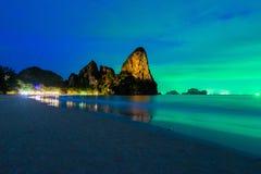 Península de Tailandia Escena de la noche Imagen de archivo libre de regalías