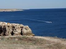 Península de Tarkhankut, Crimea del oeste Imagen de archivo