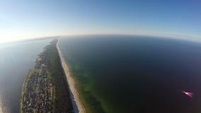 A península dos Hel, vista aérea video estoque