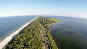 A península dos Hel, vista aérea vídeos de arquivo