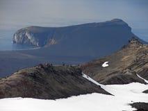 Península Eggoya, isla de enero Mayen fotos de archivo libres de regalías