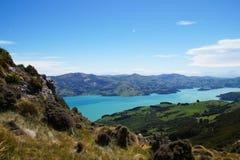 Península en la Cantorbery, Nueva Zelanda de los bancos Imágenes de archivo libres de regalías